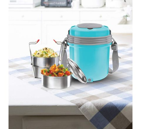 Milton Electron Stainless Steel Tiffin Box Set, 360ml/158mm, Set of 3 Containers