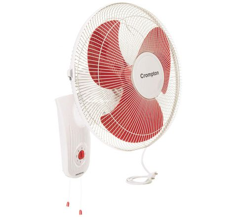 "Crompton Wall Mount High Speed Whirlwind Gale 16"" White Red"