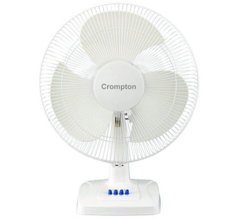 "Crompton High Speed Whirlwind Gale 16"" Table Fan Kd White"