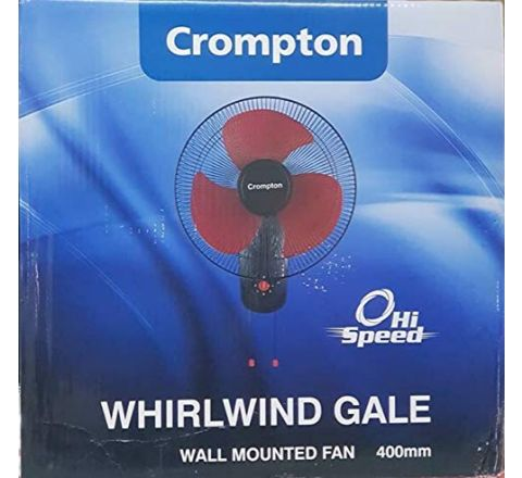 Crompton Whirl Wind Gale 400 mm High Speed Wall Fan(Red Black)