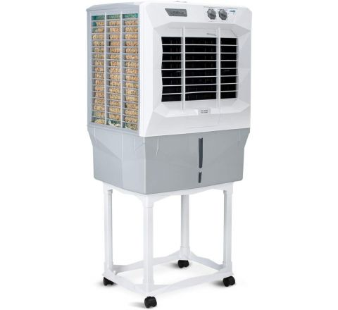 Symphony JUMBO 45DB Desert Air Cooler 41-litres, with Trolley, Powerful Double Blower, Fully Closable Louvers, 3-Side Cooling Pads & Low Power Consumption (Grey)