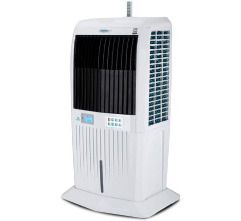 Symphony Storm 70i Desert Tower Air Cooler 70-litres, with Remote, 3-Side Honeycomb Pads, LCD Control Panel, Powerful Blower, Multistage Air Purification & Low Power Consumption (White)