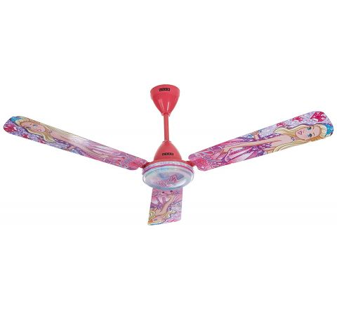 Usha Barbie Dreamtopia Ceiling Fan 1200mm with Aeroswitch Remote, Magenta