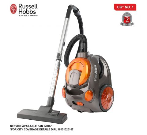Russell Hobbs RVAC2000 – 2000 Watt Powerful Suction (18 KPA) Bagless Vacuum Cleaner for Home and Car