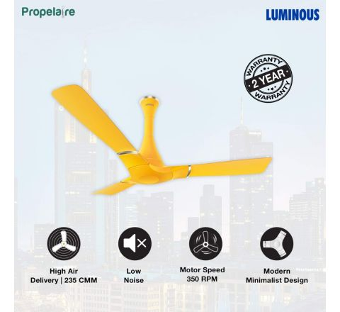 Luminous Propelaire 1200 mm Ceiling fan Sporty Yellow