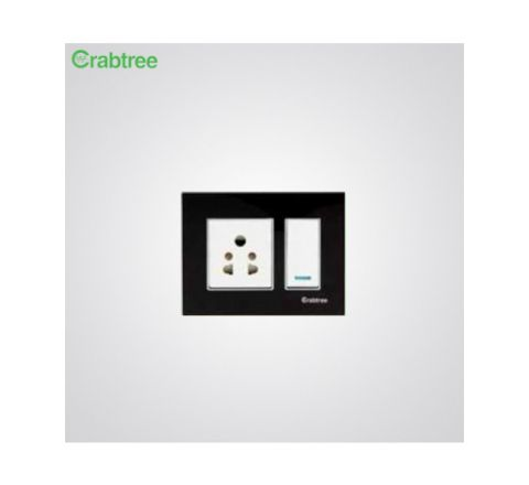 Crabtree Murano 2M Cover Plate Sparkling Black