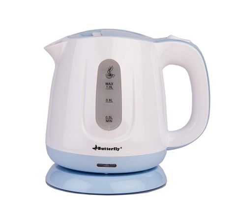 Butterfly EWK 03 1000-Watt Electric Kettle (White/Blue)