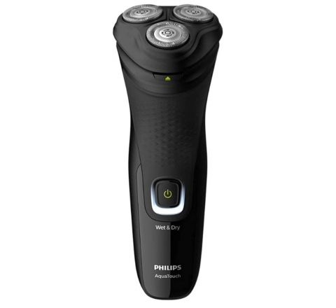 PHILIPS S1223/45, Wet or Dry Comfort Cut blades 3-Directional Flex Heads One-touch Open Pop-up Electric Shaver, Black