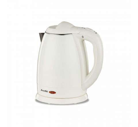 Preethi Snow White EK710 1.5-Litre Electric Kettle (Light Yellow)