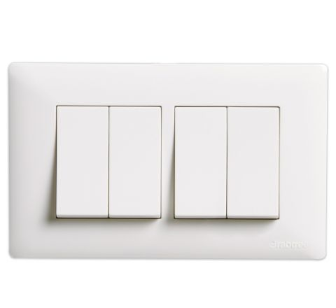Crabtree Amare 4M Cover Plate White