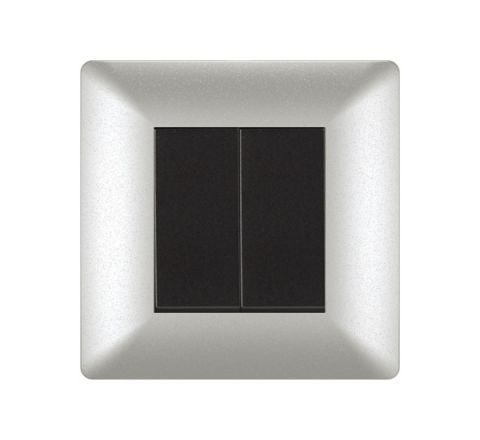 Crabtree Athena 2M cover Plate  Misty Silver