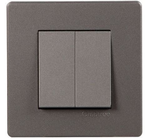 Crabtree Amare 2M Cover Plate Grey