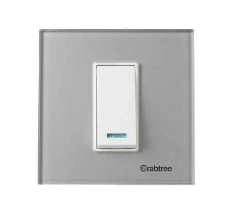 Crabtree Murano 1M Cover Plate Steel Grey