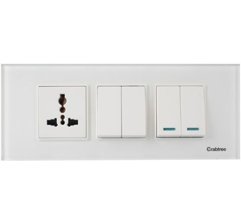 Crabtree Murano 6M Cover Plate  Pearl White