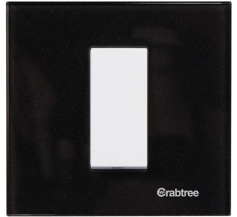 Crabtree Amare 1M Plate Dazzle Black Glass