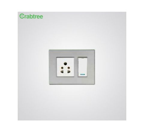 Crabtree Murano 3M Cover Plate Steel Grey