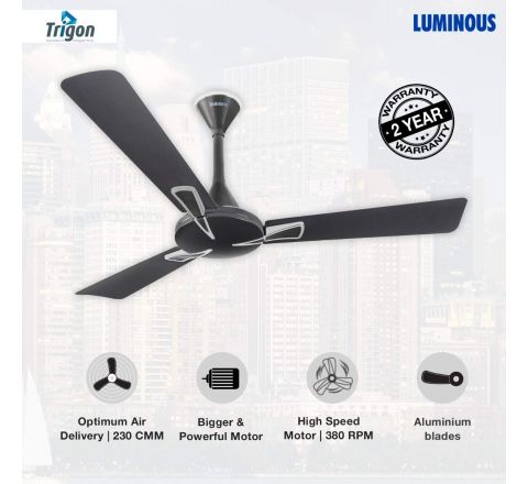 Luminous Trigon 1200 mm Ceiling fan Magnet Grey