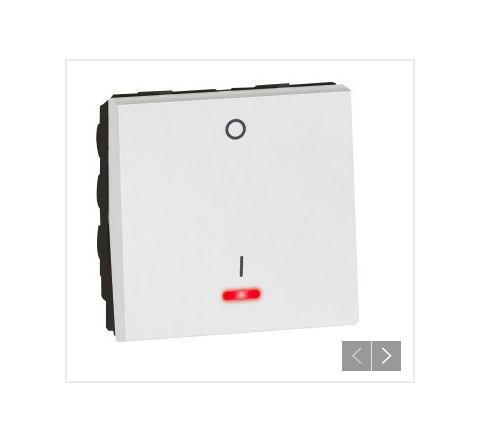 Legrand Arteor 20 A  DP Switch with Indicator White 2M 5734 54