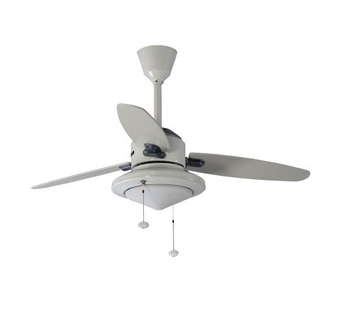 Usha Hunter Merced 1120 mm Ceiling Fan Chalk White Beech