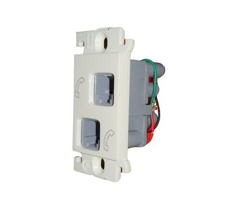 Legrand Mylinc RJ11 Tele Socket Double 1M 6755 44