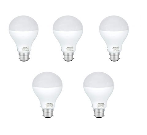 Philips Stellar Bright 21-Watt B22 LED Bulb (Pack of 5, Cool Day Light)
