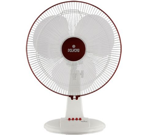 Polycab Unicorn 400mm Table Fan(White Maroon)